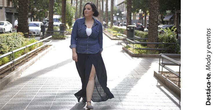 Look Sencillo Combina Una Camisa Denim Con Una Falda Pantalon Destaca Te