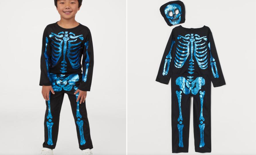 Disfraz de esqueleto H&M azul Halloween 2020