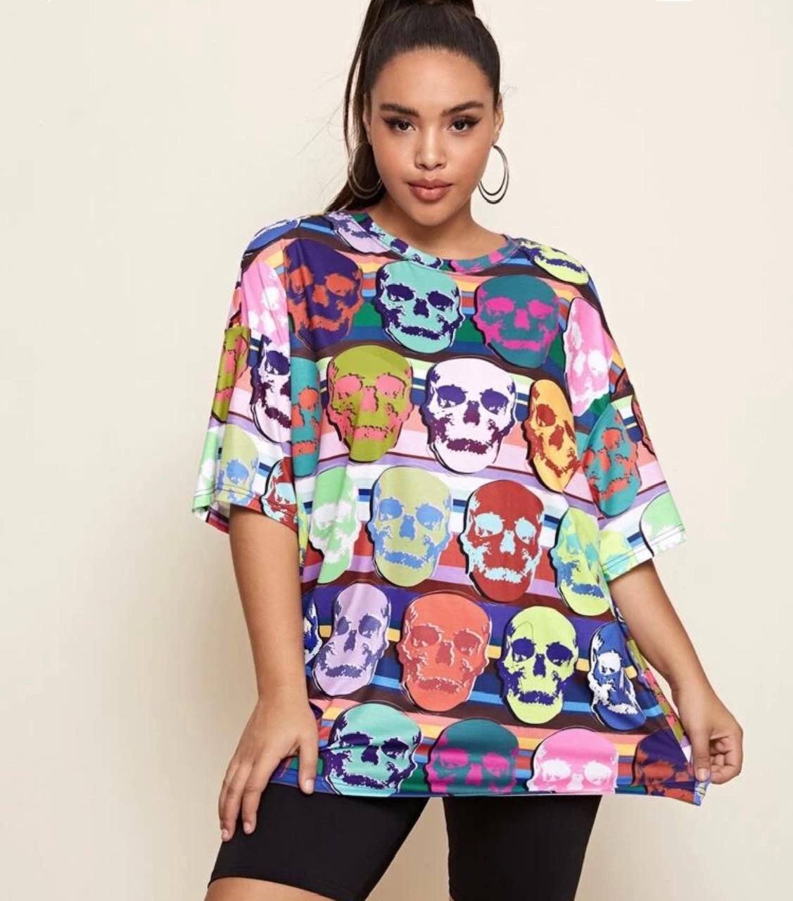 Sorteo camiseta Halloween talla grande Destáca-te Paloma Silla
