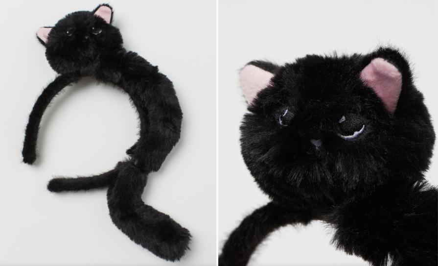 Diadema H&M gato negro Halloween 2020