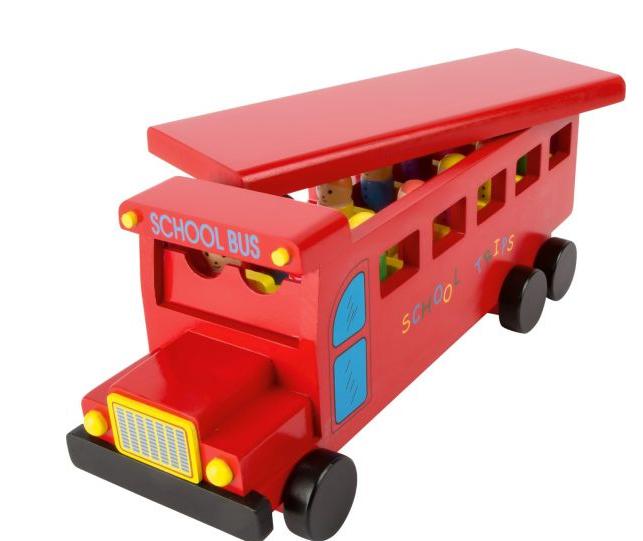 Autobús rojo de madera shop mima. Regalos Navidad y Reyes