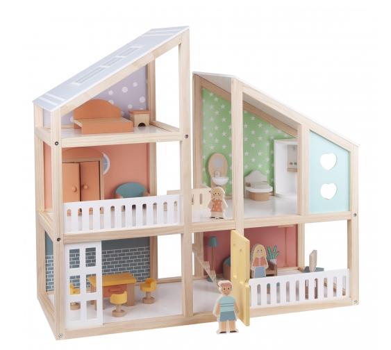 Casa de muñecas de madera primera infancia Carrefour. Regalos de Navidad y Reyes
