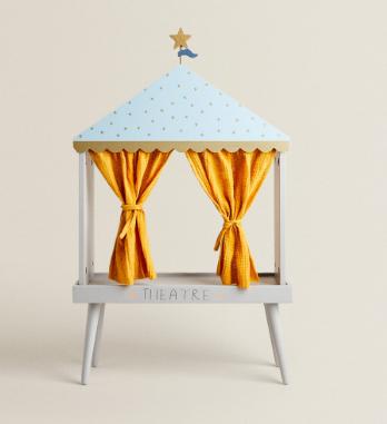 Teatro marionetas madera de Zara Home. Regalos Navidad y Reyes