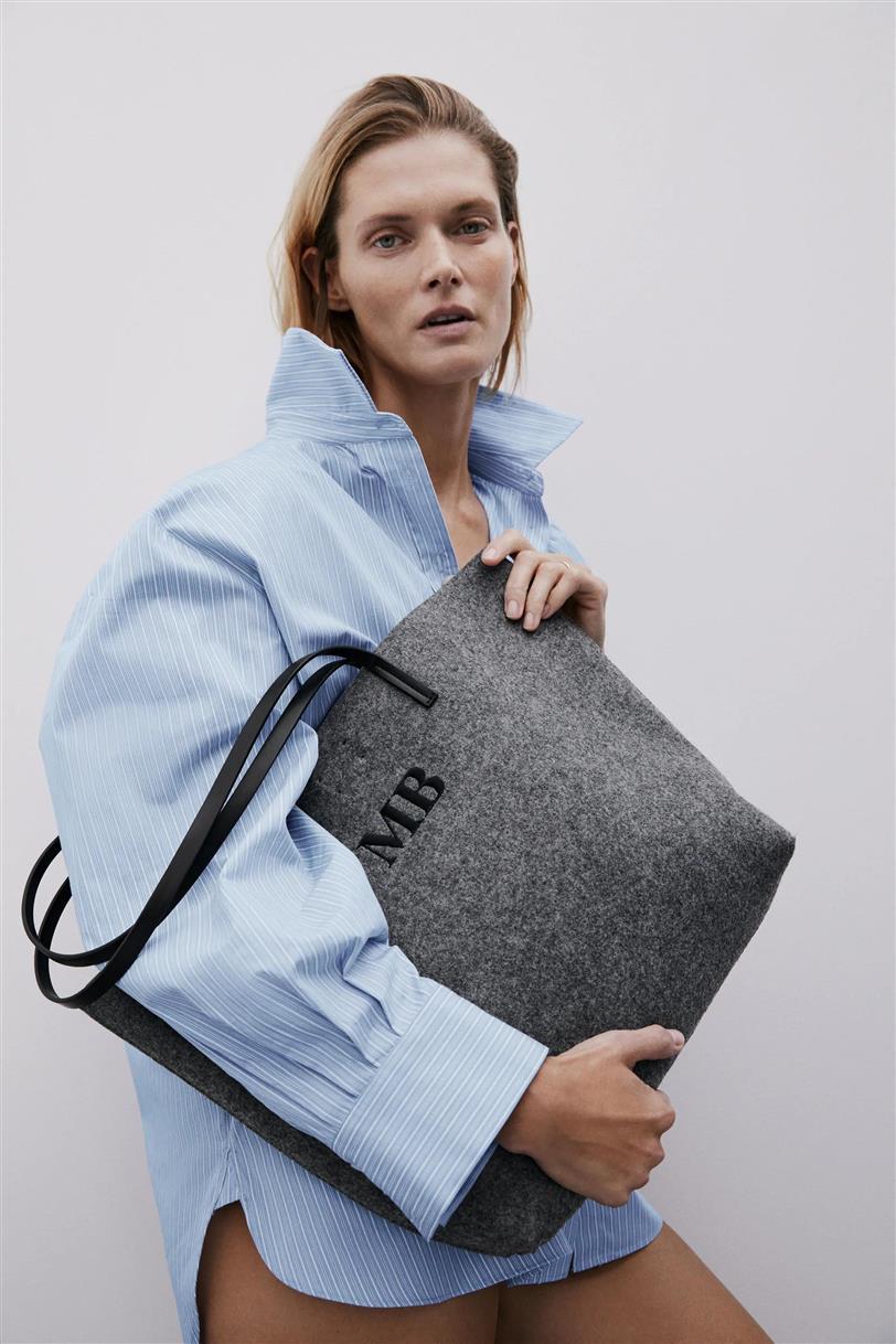 Bolso fieltro Zara gris personalizable Destáca-te Paloma Silla tendencias